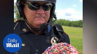 Hilarious Cop Accepts Doughnut As Bribe!