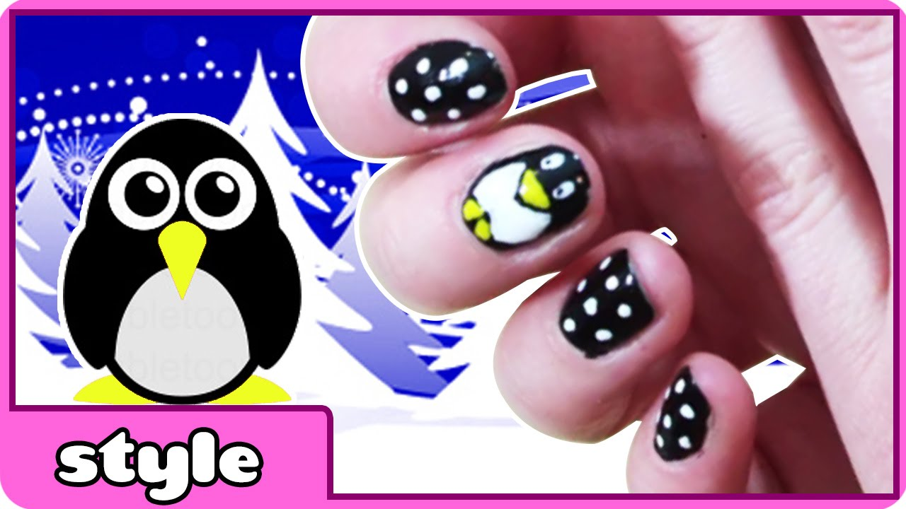 Penguin Nail Art Tutorial Diy Nails Cute And Easy Designs