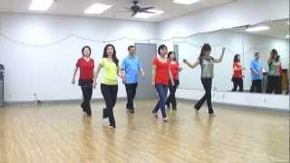 Wagon Wheel Rock - Line Dance (dance & Teach In English & 中文)