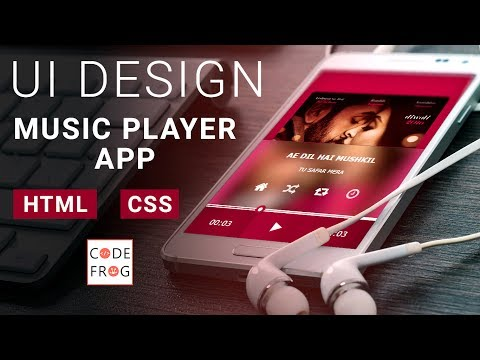 UI Design Tutorial - Music Player | HTML CSS Speed Coding