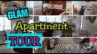MY SMALL REALISTIC  APARTMENT TOUR || GLAM AVERAGE APARTMENT TOUR
