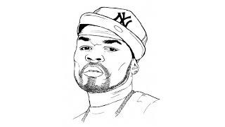 Speed drawing: 50 Cent / Быстрое рисование. 50 Cent