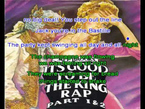 Karaoke Rap - It's Good To Be The King - Mel Brooks Instrumental Version 1981