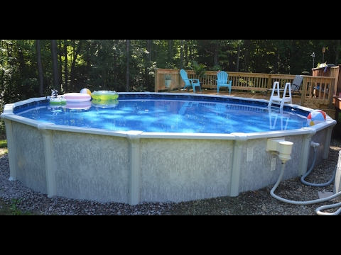 How to install an above ground pool youtube for Above ground pool setup ideas