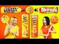 تحدي اللون الأصفر ضد البرتقالي    تناول كل شيء بلون واحد ل 24 ساعة تحدي مجنون ومضحك