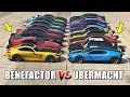 GTA 5 ONLINE - BENEFACTOR VS UBERMACHT (WHICH IS FASTEST?)