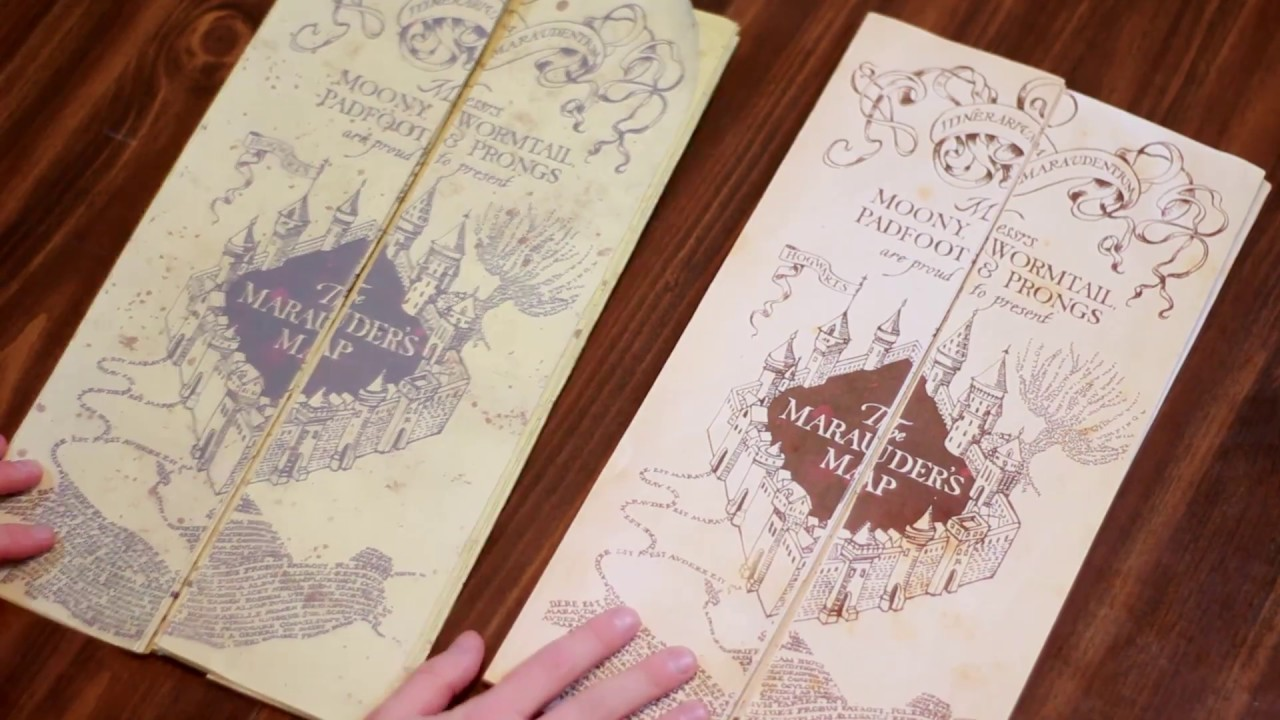 image regarding Harry Potter Marauders Map Printable identify Marauders Map Comparison - Do it yourself Entire Dimension Reproduction Outdated vs Fresh new