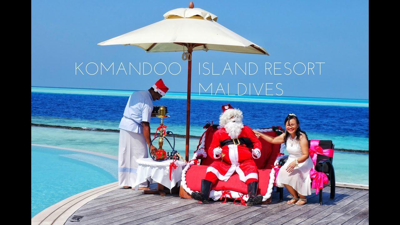 Weihnachtsessen Island.Komandoo Island Resort Spa Maldives Malediven Christmas Weihnachten