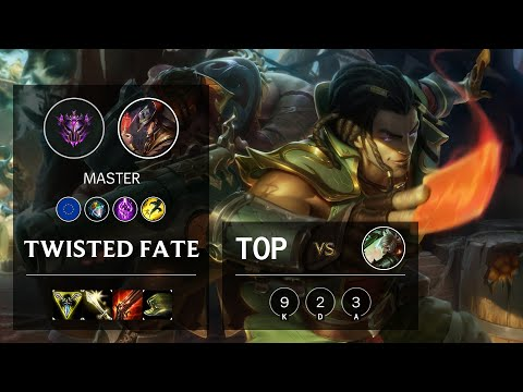 Twisted Fate Top vs Riven - EUW Master Patch 10.12