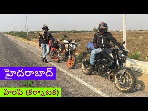 HYDERABAD To HAMPI (karnataka) Telugu Motovlog 450kms Ride