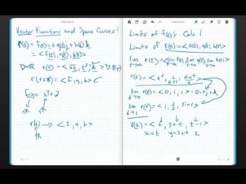 Calculus 3 Chapter 13.1