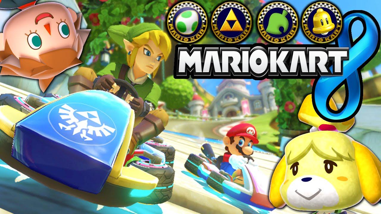 Donkey kong mario kart wii car tuning - Mario Kart 8 News Dlc Tracks Link Animal Crossing Zelda Tanooki Cat Peach Characters Gameplay Youtube