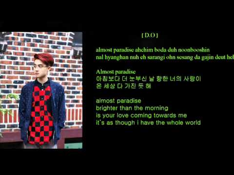 EXO - Paradise (130703 China Korea Friendship Concert) (Color Coded Hangul/Rom/Eng Lyrics)