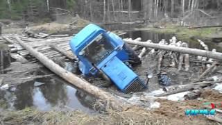 Traktor zaglavio u blatu, tractor stuck in mud, tractor crash