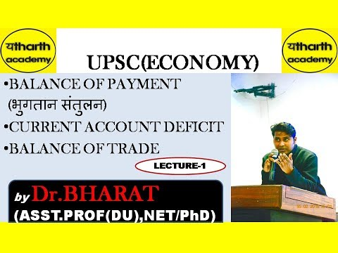 UPSC(Economy)-- Balance of Payment & Current Account Deficit by Dr.BHARAT