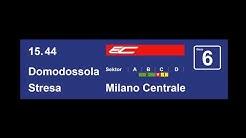 SBB Ansage EC Milano Centrale auf Deutsch, Italienisch und Englisch