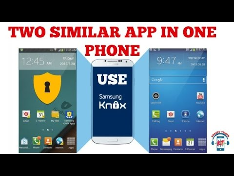 How TO USE AND INSTALL Samsung My KNOX    TWO SIMILAR APPS IN ONE PHONE     USING SAMSUNG MY KNOX