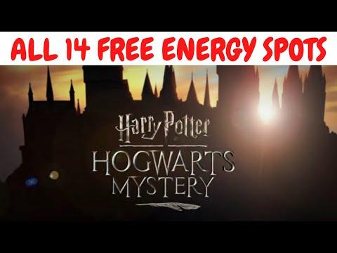 All 14 Harry Potter Hogwarts Mystery hidden / secret energy spots - Current as of March 2020