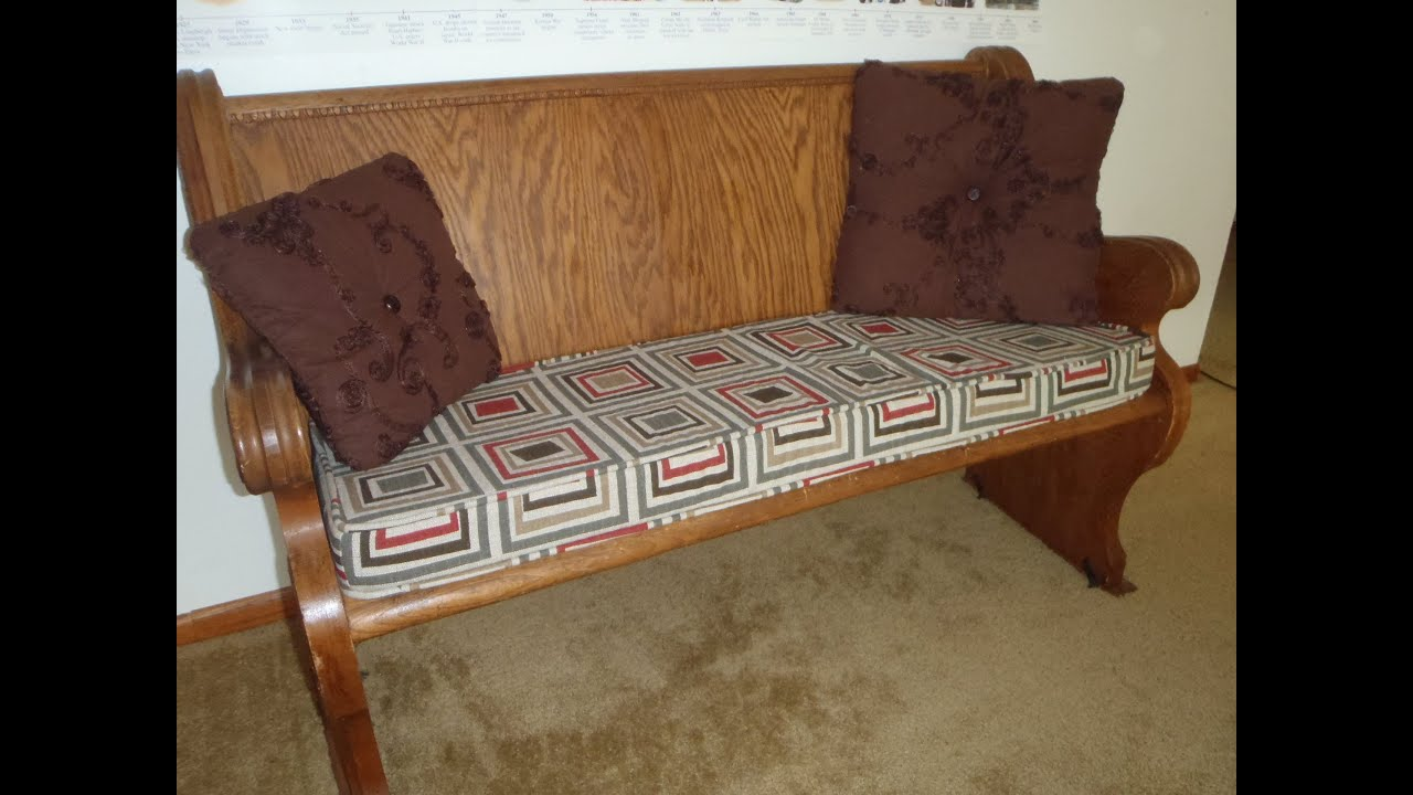 bench cushion with piping 2 youtube. Black Bedroom Furniture Sets. Home Design Ideas