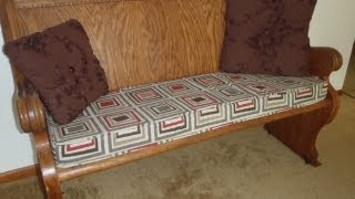 Bench Cushion With Piping 2