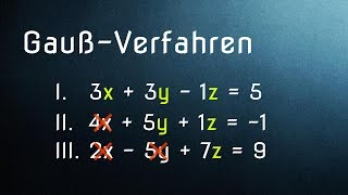 Mathe G33: Gauß-Verfahren (Teil 1/3): Grundlagen LGS und Additionsverfahren
