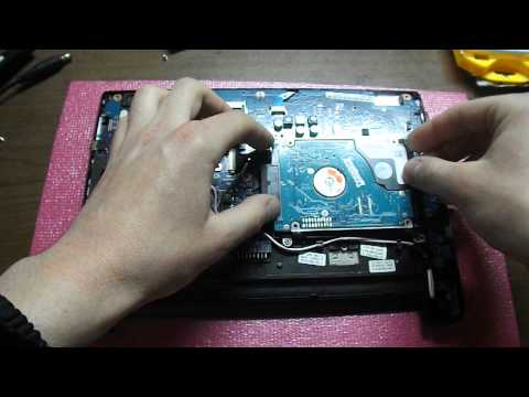 Замена HDD и обзор нетбука Samsung NP-N102S