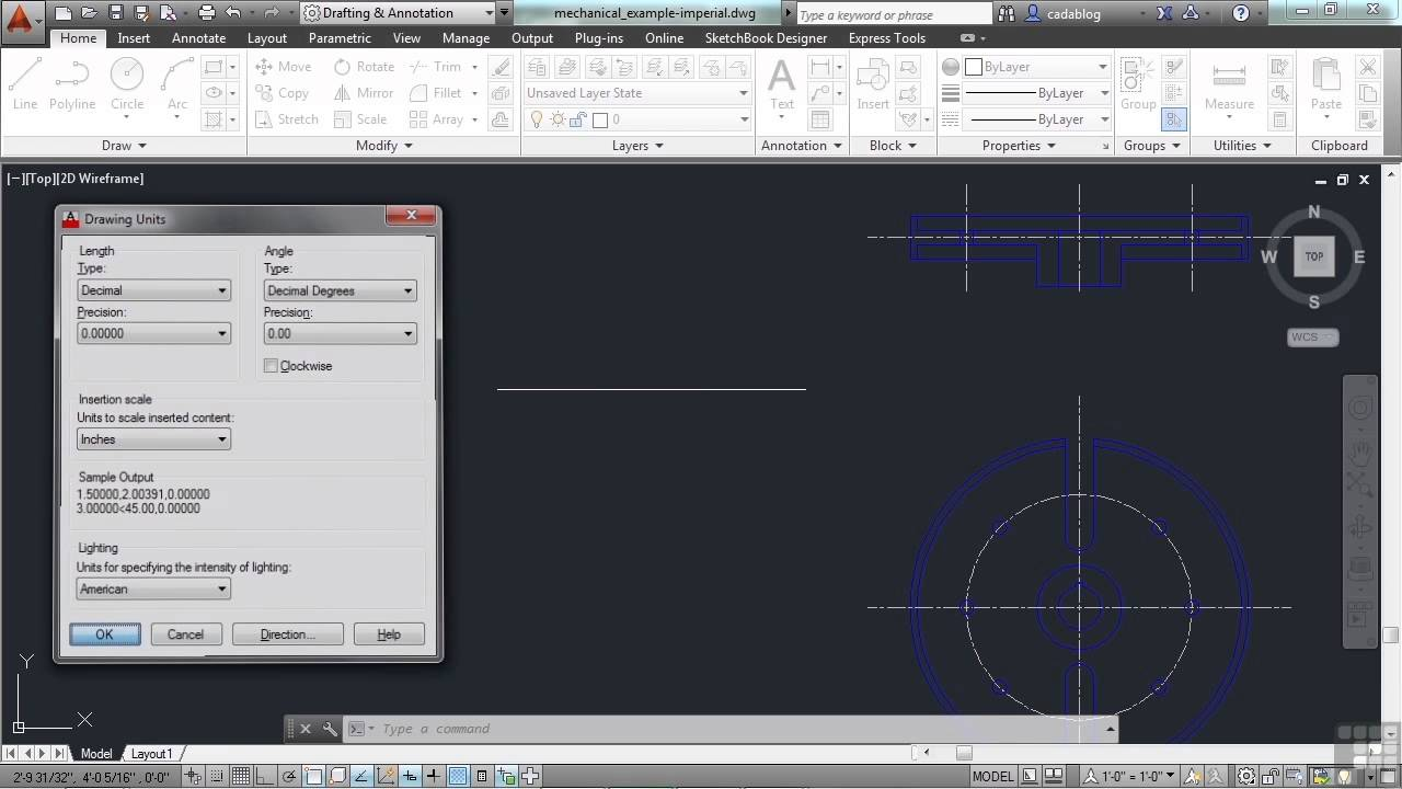 Beginners Autodesk Autocad 2014 Tutorial How Autocad Interprets Units Youtube
