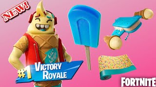 "*NEW* ""LIL WHIP"" SKIN, ICE POP PICKAXE, & ICE CREAM CRUISER GLIDER GAMEPLAY! (Fortnite)"