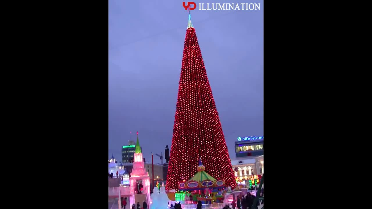 YD 50mm Point Light Source Used In Yekaterinburg Christmas Tree Lighting  Project