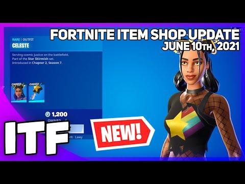 Download Fortnite Item Shop *NEW* CELESTE SET + MARSHMELLO + ICON EMOTES! [June 10th, 2021] (Fortnite BR)