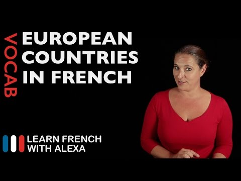 European Countries In French