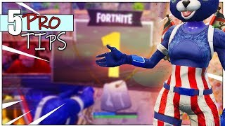 5 PRO TIPS FOR CLOSE ENCOUNTERS : Fortnite How To Win More Gunfights!