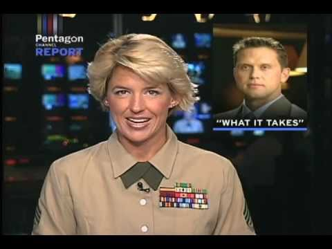 Amy Forsythe anchors the Pentagon Channel Report