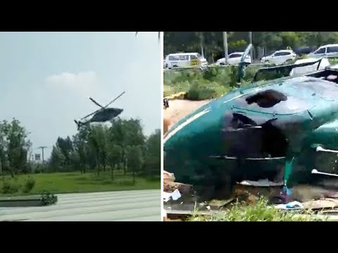 Helicopter crashes in northern Beijing
