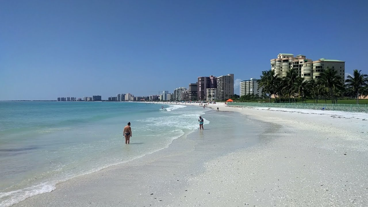 South Marco Beach On Island Florida