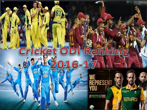 Cricket ODI Ranking 2016-2017, top 10 team, best team 2017, number 1 odi team
