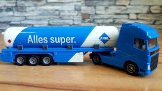 ARAL Tanker Truck Siku Tanker Blue Oil Tanker Truck for Kids