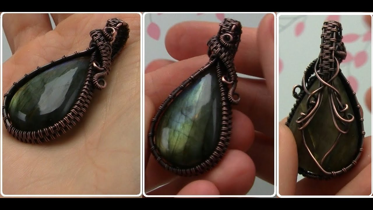 Wire wrapped cabochon undrilled stone pendant tutorial demo youtube baditri Images