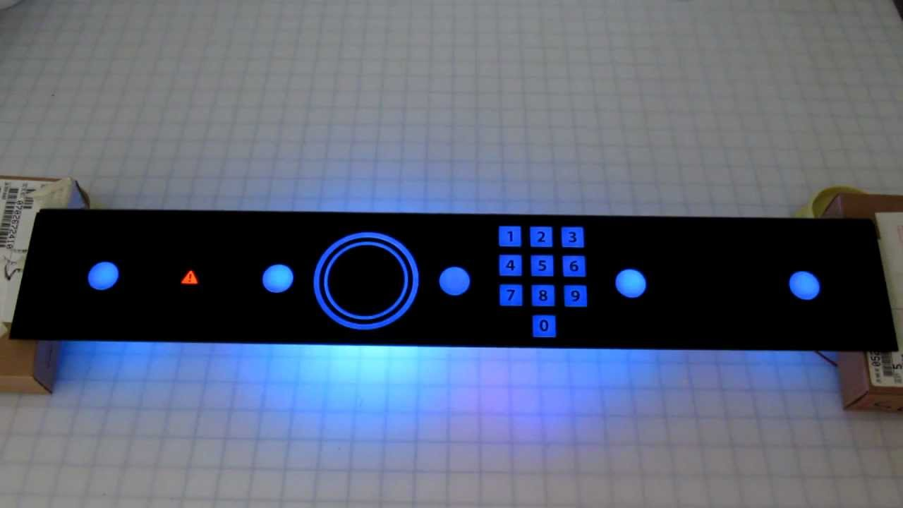 Usb Capacitive Touch Interface With Dead Front Glass
