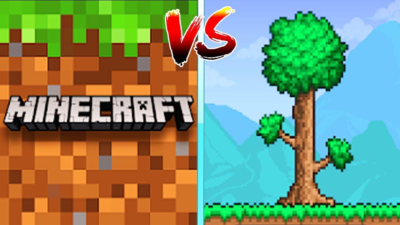 Minecraft VS Terraria (MCPE VS TERRARIA)