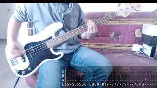 Sum 41 Special Month - 02 - Underclass Hero [Bass Cover + Tab]