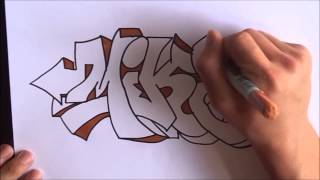Graffiti Speed Drawing #3 letters Mike