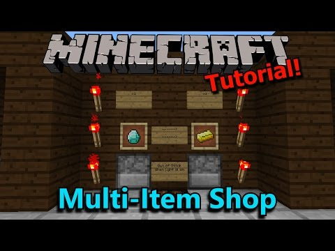 [Tutorial] Minecraft Multiplayer Trading Shop
