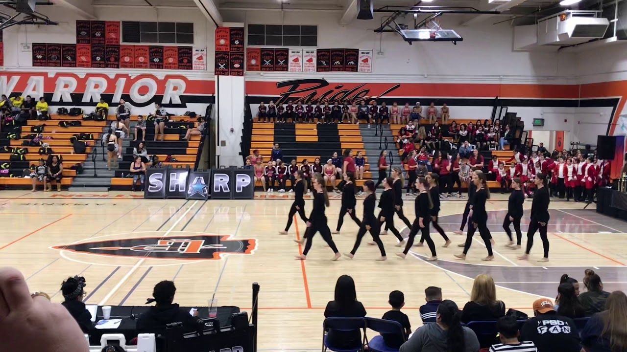 LQHS dance team 2018/2019 comp - YouTube
