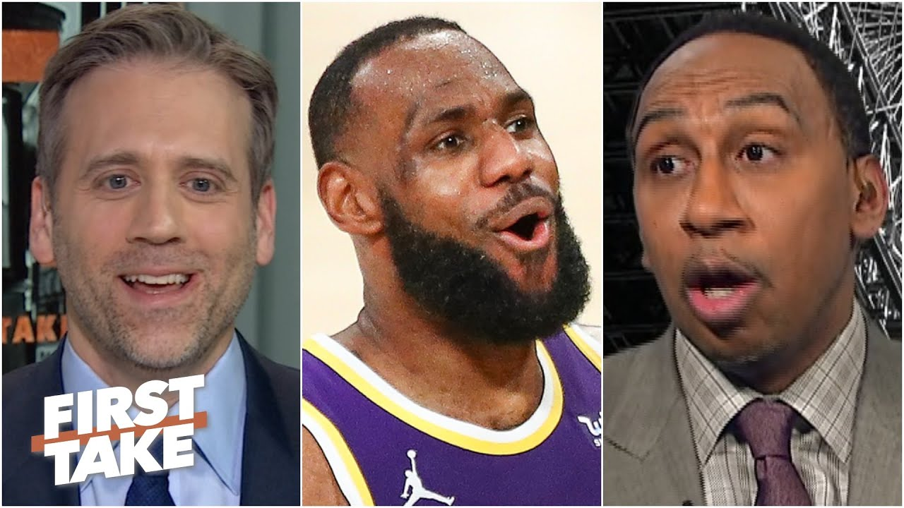 'Of course LeBron's a flopper' - Stephen A. & Max react to LeBron's warning
