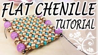 Video Flat Chenille Stitch Tutorial - A nice idea for a flat beadwork bracelet download MP3, 3GP, MP4, WEBM, AVI, FLV Juni 2018