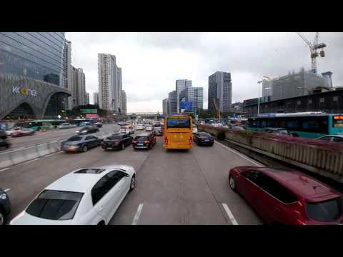 Time lapse bus tour of Shenzhen