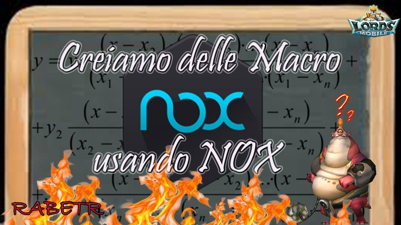Lords mobile Macro con emulatore NOX