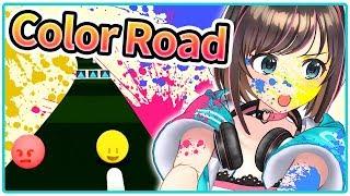 【Color Road!】同じ色を選び続けるだけのゲームがかなり難しい!