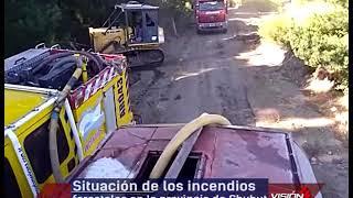 31 01 19  HUGO MELIPIL JORGE BONANCEA  Situación del incendio forestal en Epuyén que llegó a El Mait